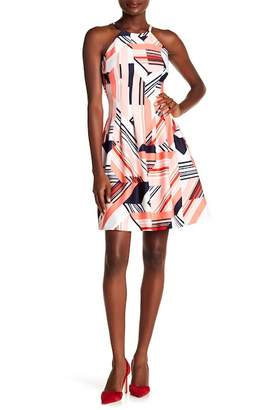 Vince Camuto Halter Fit And Flare Dress