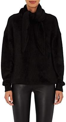 Balenciaga Women's Chenille Tieneck Sweater $1,395 thestylecure.com
