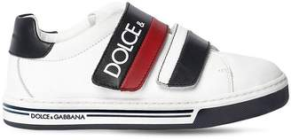 Dolce & Gabbana Logo Leather Strap Sneakers