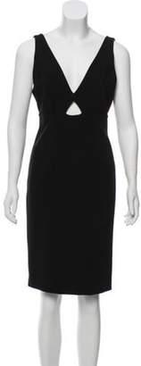 Alice + Olivia Knee-Length Bodycon Dress Black Knee-Length Bodycon Dress