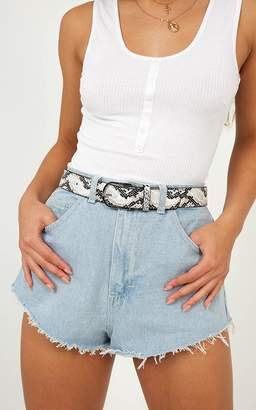Showpo The Girl Code Belt In Snakeskin Belts