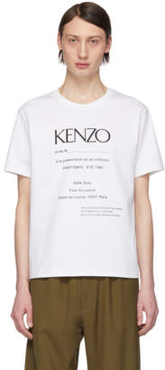 Kenzo White Vintage Classic Fit T-Shirt