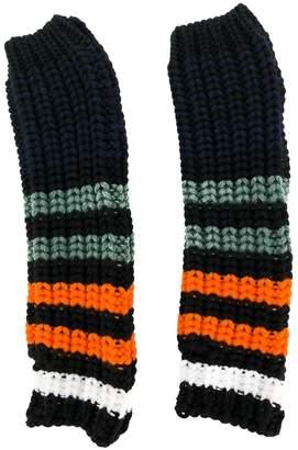 Sonia Rykiel striped knitted gloves