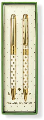 Kate Spade Women's Gold Dot Pen & Pencil Set