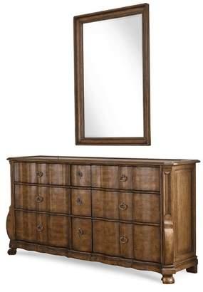 Art Traditional Brown Wood Dresser Continental