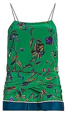 Derek Lam 10 Crosby Women's Twist-Detail Floral Silk Camisole