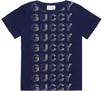 Gucci Kids Guccy printed cotton T-shirt