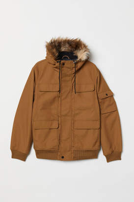 H&M Short Hooded Jacket - Beige