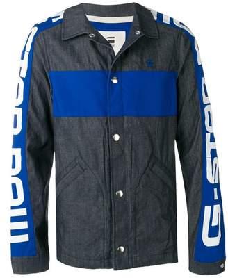 G Star Research stamped sleeves denim jacket