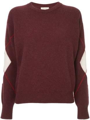 MAISON KITSUNÉ colour-block knit sweater