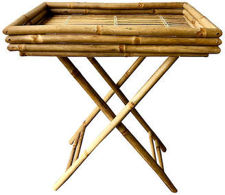 One Kings Lane Vintage Folding Bamboo Tray/Table - nihil novi