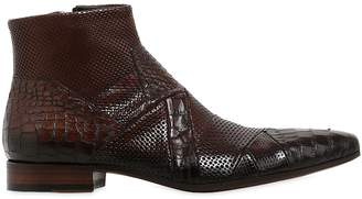 Jo Ghost Handcrafted Perforated Leather Boots