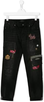 Ralph Lauren Kids patched jeans