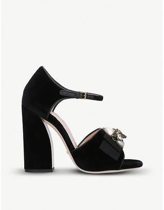 Gucci Etoile embellished velvet heeled sandals