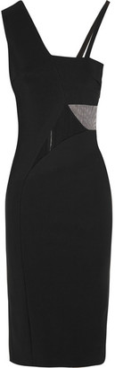Mugler - Mesh-paneled Stretch-jersey Dress - Black $2,175 thestylecure.com