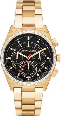 MICHAEL Michael Kors 38mm Vail Chronograph Watch, Golden/Black