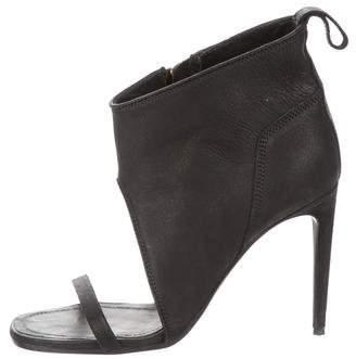 Rick Owens Nubuck Zip Sandals