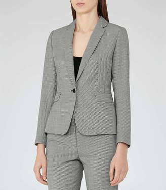 Reiss Maxine Jacket Patterned Single-Breasted Blazer