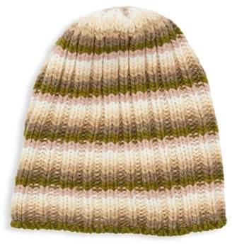 8cc81861 Portolano Striped Cashmere Knit Slouchy Beanie
