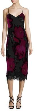 Trina Turk Fosse Velvet Floral Burnout Slip Dress $398 thestylecure.com