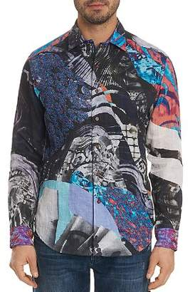 Robert Graham Limited Edition Galaxy Pattern Regular Fit Button-Down Shirt
