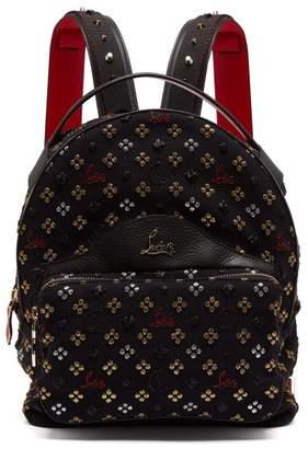 Christian Louboutin Backloubi Small Glitter Jacquard Backpack - Womens - Black Multi