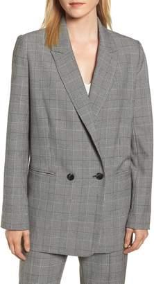 Rebecca Minkoff Maurina Glen Plaid Double Breasted Jacket