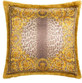 Versace Crown Animalier Cushion - 50x50cm - Chestnut/Gold