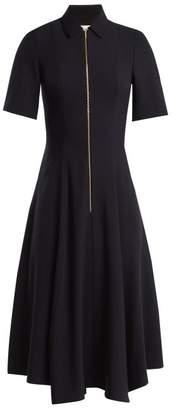 CEFINN Point-collar zip-up jersey dress