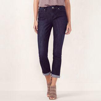Women's LC Lauren Conrad Cuffed Skinny Capri Jeans $50 thestylecure.com