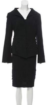 Anett Rostel Wool Boarder Work Skirt Set