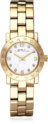 Marc by Marc Jacobs Mini Amy 26 MM Gold Tone Stainless Steel Women's Watch $200 thestylecure.com