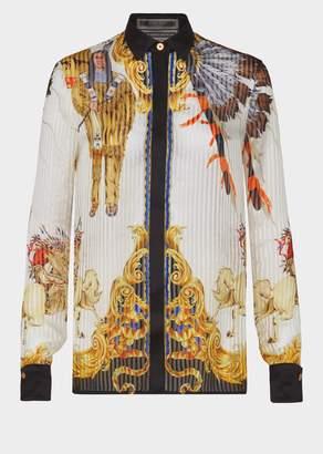 Versace Native Americans Silk Shirt