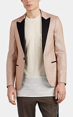 Lanvin Men's Metallic-Knit One-Button Tuxedo Jacket - Pink