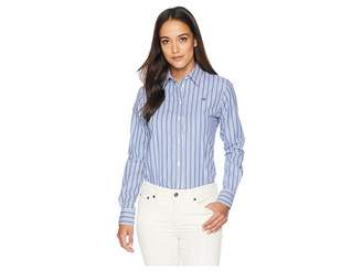 Lauren Ralph Lauren Petite Striped Monogram Shirt
