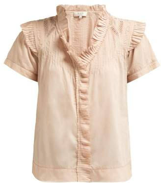 Sea Hemingway Short Sleeved Ruffle Blouse - Womens - Light Pink