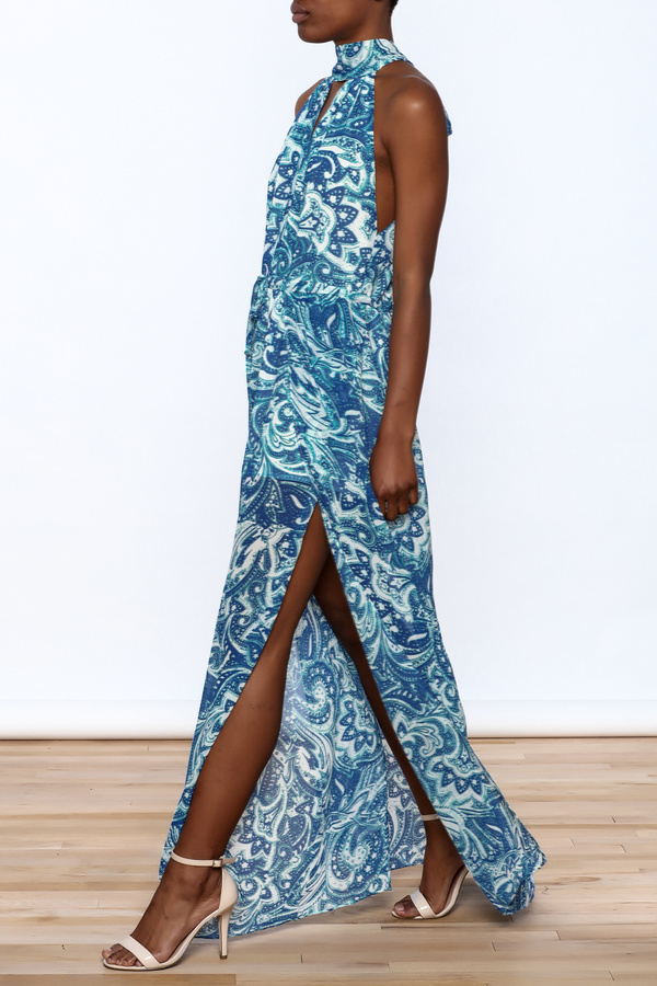 Olivaceous Cobalt Blue Maxi Dress