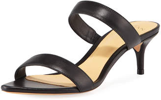 Alexandre Birman Leblon Leather Slide Sandals