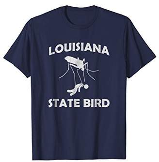 Vintage Louisiana Mosquito Shirt Funny State Bird Men Kids