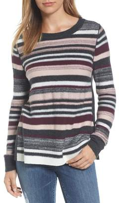Caslon Reverse Stripe Sweater