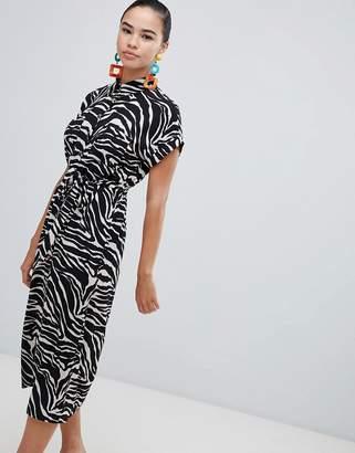 New Look Printed Midi Shirt Dress