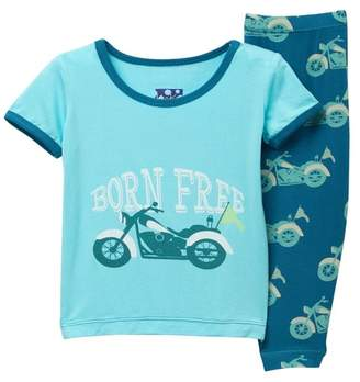 Kickee Pants Printed Short Sleeve Pajama Set (Baby & Big Boys)