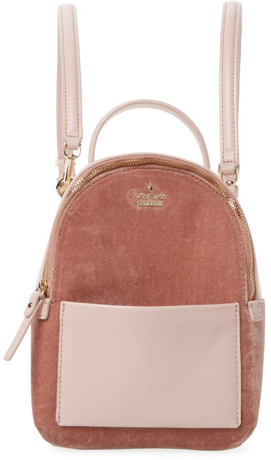 Kate Spade New York Women's Watson Lane Velvet Backpack