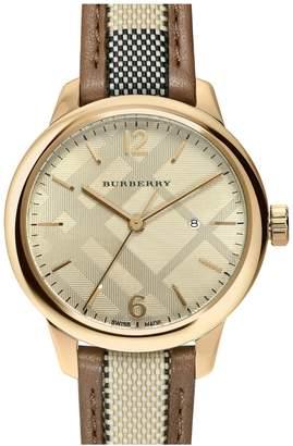 Burberry Women's Check Casual Swiss Quartz Watch, 32mm