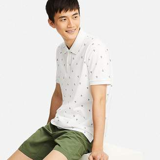 Uniqlo Men's Dry Pique Printed Short-sleeve Polo Shirt