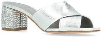 Gina Leather Embellished Janiero Mules 50