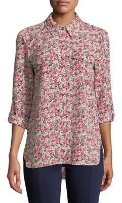 Tommy Hilfiger Floral Roll Tab Shirt