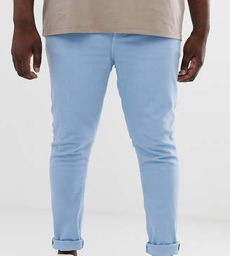 Asos Design DESIGN Plus super skinny jeans in baby blue