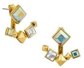 Karl Lagerfeld Paris Essentials Crystal Pyramid Jacket Earrings