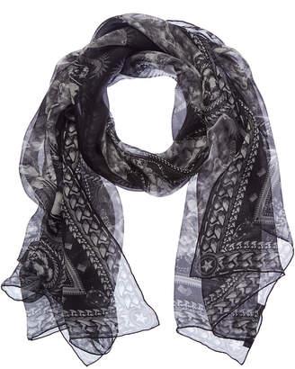 Givenchy Tiger Print Silk Scarf